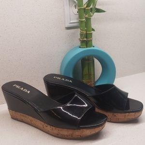 PRADA Wedge sandals (size 6.5)